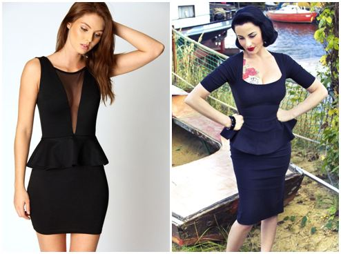 Peplum Now & Then look - it's a trend that never dies